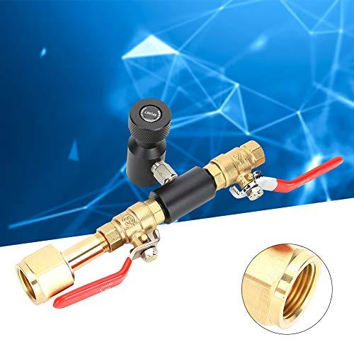 ?å? Soda ventil, CO2-cylinderfyllningsadapter dubbelventil CGA320 med soda svart ventil ASA användarmanual för soda Stream