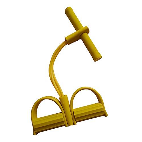 TOPmontain - Bandas de ejercicio de cuerda de rally con pedal de pie y extractor de piernas para abdominales y abdominales, multifunción, de cuatro tubos, elástico para entrenamiento de yoga