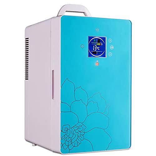 LYZL Mini Nevera 16 L/Nevera Pequeña Portátil Silenciosa AC/DC, Enfriador Y Calentador Eléctrico para Dormitorios, Oficina, Coche, Camping,Azul