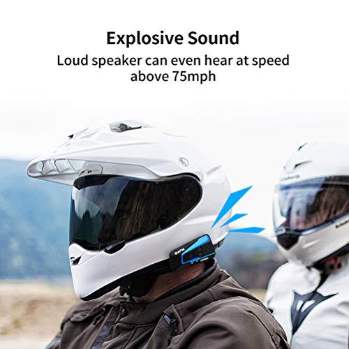 LEXIN B4FM Motorradhelm Intercom, Bluetooth Motorrad Headset Windgeräuschreduzierung, Bluetooth-Kommunikationssystem für Motorräder - 5