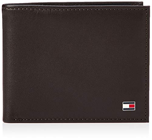 Tommy Hilfiger Eton Mini CC Wallet, Cartera para Hombre, Brown, OS