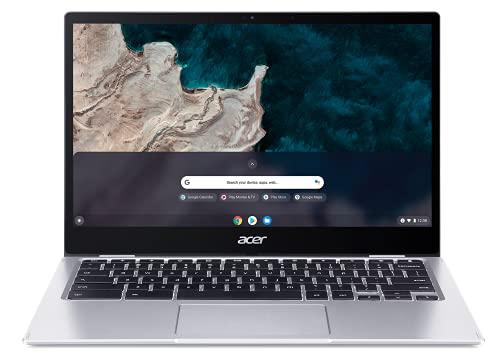 Acer Chromebook Spin 513 CP513-1H-S64V Ordinateur Portable Tactile Convertible 13,3'' Full HD IPS, PC Portable (Qualcomm Snapdragon SC7180, RAM 8 Go, 64 Go eMMC, Qualcomm Adreno 618, Chrome OS) - Gris
