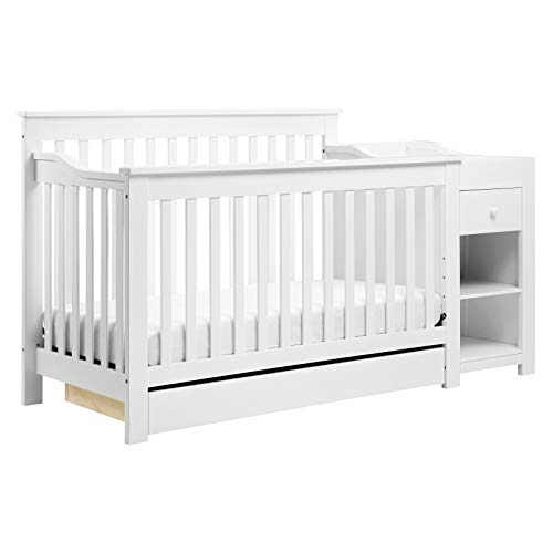 DaVinci Piedmont 4-in-1 Crib and Changer Combo in White, Greenguard Gold Certified