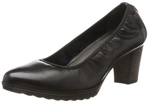 Tamaris Damen 22417 Pumps, Schwarz (Black Leather), 37 EU
