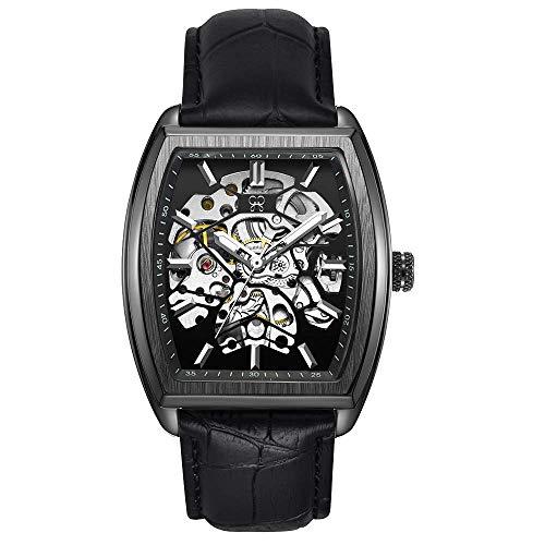 GF 041 Herrenuhr Mechanisch Automatik Armbanduhr Analog Männer (Schwarz)