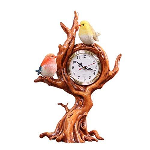 Reloj de Escritorio con Manto, Sala de Estar Europea, decoración Creativa de Escritorio, Reloj silencioso, Estilo 16ZZYYLLYZ