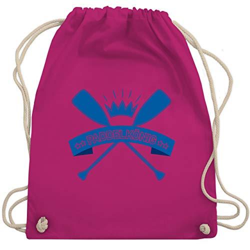 Shirtracer Wassersport - Paddelkönig - Unisize - Fuchsia - paddel tasche - WM110 - Turnbeutel und Stoffbeutel aus Baumwolle