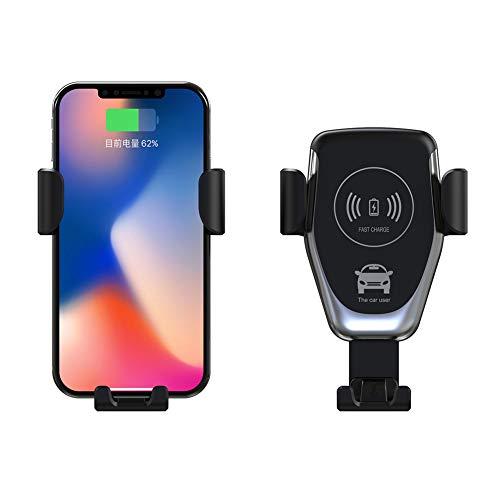 cA0boluoC Auto Berg Telefon Halter Ladegerät 360 Grad15W Drahtloses Schnelles Aufladendes für Samsung Galaxy iPhone iPad HTC LG Smartphones Tablets Powerbank for Galaxy S6 S7 S8 S9 Plus