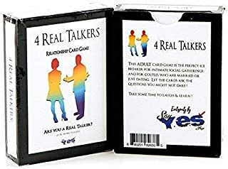 4 Real TALKERS Relationship Card Game - The Perfect Ice Breaker Party Game for Groups, Friends & Couples - Improves Communication & Relationships - Great Get to Know Each Other Gift