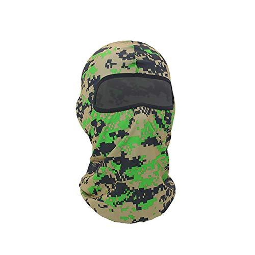 Four Seasons Camouflage Printed Sportkopfbedeckung, Sonnenschutz-Reitmaske, Motorrad Outdoor Windproof Cs Lycra Masked Headgear