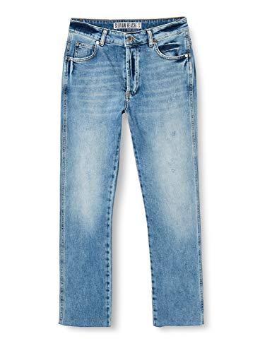 Silvian Heach Hilleni Jeans Boyfriend, Blu (J.Blue Med J.Blue Med), (Taglia Produttore:28) Donna