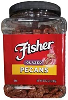 Delicious Fisher Fresh Glazed Pecans Jar of 2 Lb (32 Oz)