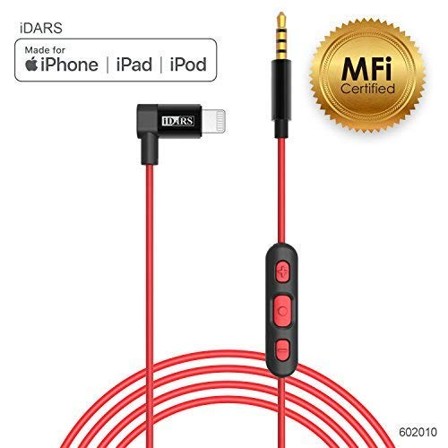 best service 71aaf 6a9e7 iDARS 3.5mm Lightning AUX Cable Apple MFi Certified Lightning Audio Cable  with Mic & Remote Control Aux Cable for Car, Hi-Fi Headphones, Bluetooth ...