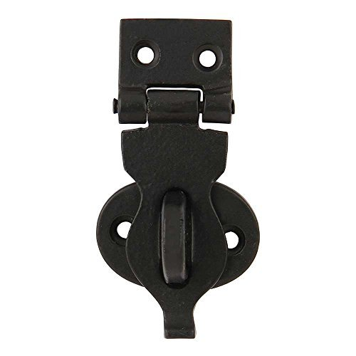 Set of 4 Cast Iron Trunk/Chest Hasp 3 1/8 Inches Black Powder Coat Finish Safety Latch