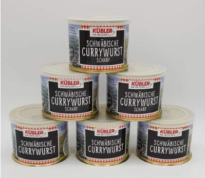 Kübler´s Schwäbische Currwurst in der 200g Dose 3x klassische und 3x scharfe im Paket
