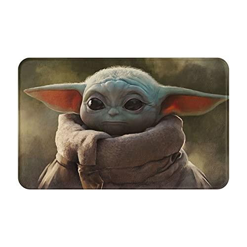 Art The Mandalorian Baby Yoda - Felpudo antideslizante para puerta de casa (50 x 80 cm)