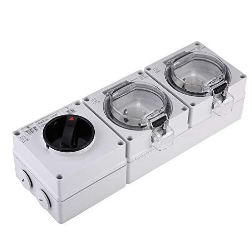 Waterdicht stopcontact voor buiten Premium - stopcontact voor wandmontage met een - uit-schakelaar voor badkamer, tuin, enz.