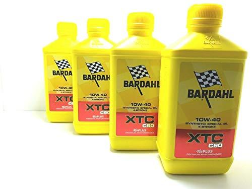 Bardahl - Aceite sintético para motor de moto Bardhal XTC C60 10W40, 4 tiempos