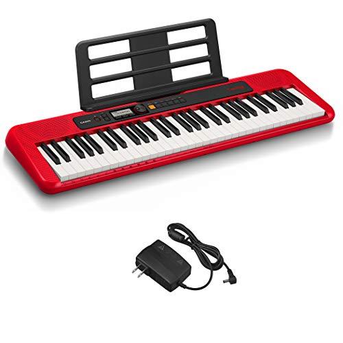 カシオ(CASIO)電子キーボード Casiotone CT-S200RD(レッド:赤) 61鍵盤 軽量&コンパクト 持ち運びしやすくPOPデザイン ダンスミュージックモード