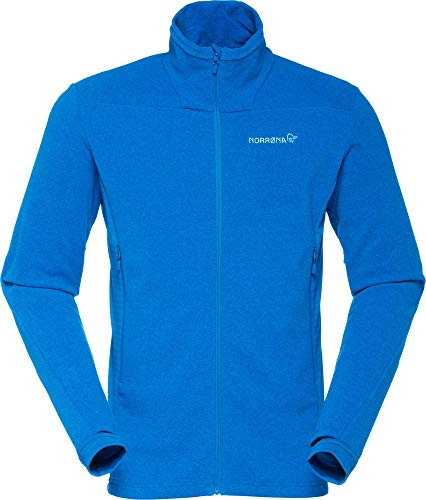 Norrona M Falketind Warm1 Jacket Blau, Herren Polartec Freizeitjacke, Größe M - Farbe Hot Sapphire