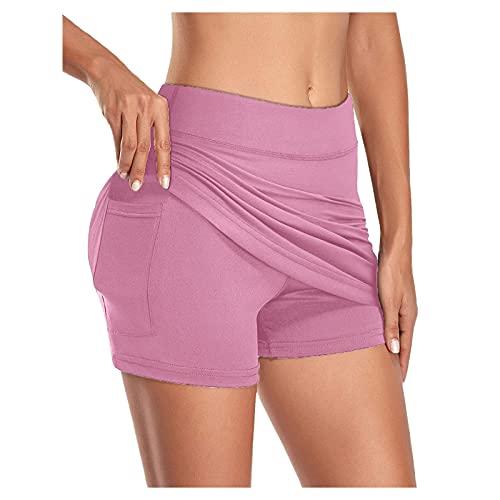 Sunggoko Tennis-Skorts für Damen mit Taschen Leichtgewicht Sportskort Tennisröcke mit Eingebauten Shorts für Golf Running Workout