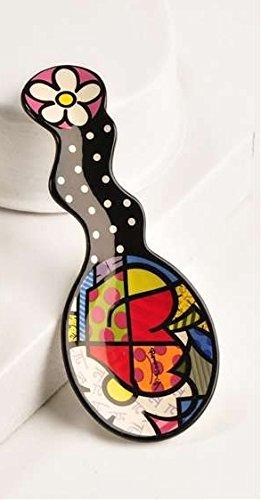 Romero Britto Apple Design Spoon Rest