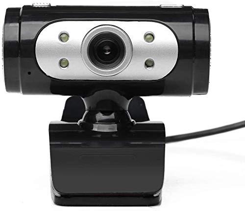 Bbhhyy Webcam, Cámara Web HD con Micrófono Incorporado USB Plug & Play Ordenador Cámara HD 720P Micrófono Videoconferencia