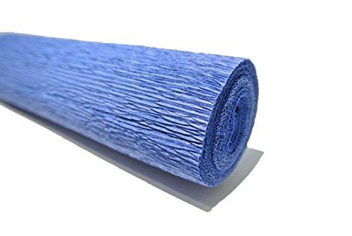 Bellaflor Floristenkrepp 50 cm x 250 cm lichtecht, Nicht ausblutend, königsblau 25