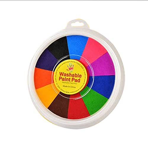lefeindgdi Juego de pintura de dedos Kit de dibujo de dedos Juguetes educativos Kit de herramientas para pintura de barro y dedos Kit de suministros para todas las edades