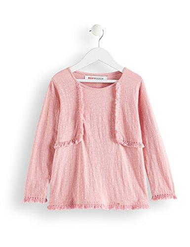 Amazon-Marke: RED WAGON Mädchen Bluse mit Fransen, Rot (Coral Blush), 110, Label:5 Years