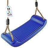 GO!elements Schaukel Garten - Kinderschaukel Outdoor Indoor - Schaukelsitz Schaukelbrett Brettschaukel für Kinder zum Schaukeln - Höhenverstellbar - rutschfest - Diverse Farben