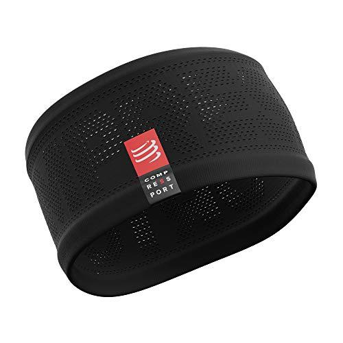 COMPRESSPORT Erwachsene Headband V2 On/Off Lauf Stirnband, Schwarz, One Size