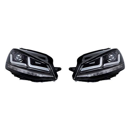 Osram Ledriving LED Scheinwerfer, Schwarz Edition als Halogenersatz zur Umrüstung auf LED, LEDHL103-BK, für Linkslenkerfahrzeuge (1 Komplett-Set)