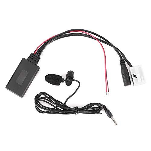 Adaptador AUX para coche, adaptador de audio Bluetooth de 12 pines, luz portátil pequeña para Citroen C2 2005 + Blaupunkt/VDO / RD4 Fit Citroen C3 2005 + Blaupunkt/VDO / RD4