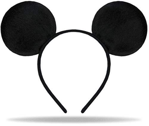 Hatstar Haarreifen mit Maus Ohren | Mouse Ears in schwarz für Kinder und Erwachsene