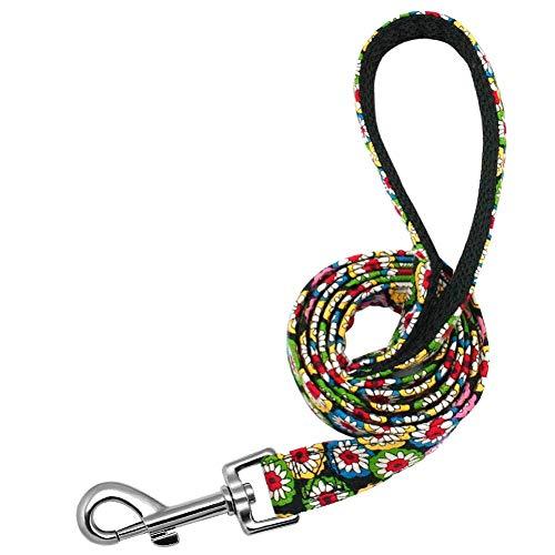 CCJW Personalisierte Hundehalsband Leine Nylon Drucken Kleine Halsbänder Small Medium Blei Großer Fressnapf Pitbull Shepherd Welpen kshu