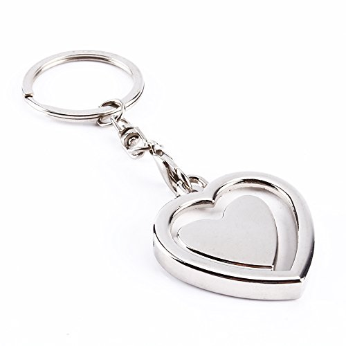 Estink fotosleutelhanger, lief creatieve mini-fotolijst metaallegering invoegen fotolijst sleutelhanger persoonlijk cadeau, hartvormen