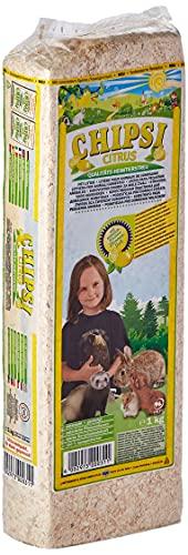 Chipsi Lecho para Conejos de Limón Aglomerante (15 L). Lecho Higiénico para Roedores, Hamsters, Cobayas Cítrico con Materiales Naturales Biodegradables, Ecológicos.