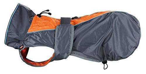 Trixie massieve regenjas voor honden, 40 cm, grijs/oranje