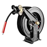 WOJET High Pressure Hose Reel for Air/Oil/Water 4000 PSI 50ft 3/8' Capacity Pressure Washer Hose Reel(Hose not Included)
