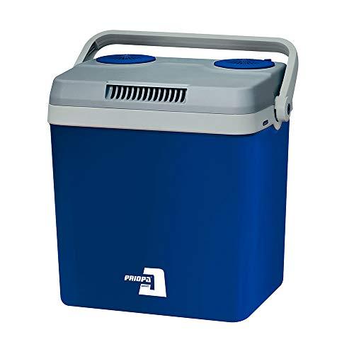 PRIOPA Kühlbox Getränke Speisen Getränke Party Picknick Camping Kühltasche Kühlschrank 12/220V 32 Liter Blau Cooling Box