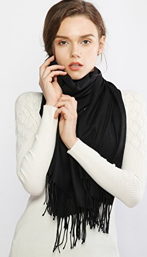 RIIQIICHY Cashmere Winter Warm Scarf Pashmina Shawl Wrap for Women and Men Long Large Soft Scarves