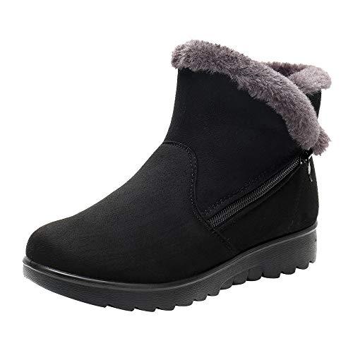 Mujer Botas De Nieve Zapatos,Beikoard Mujer Mujeres Invierno Tobillo Shoes Corto Nieve Botas Calzado De Piel Zapatos Calientes,Botas De Nieve Shoes Botas Cortas Botas De Algodón Zapatos