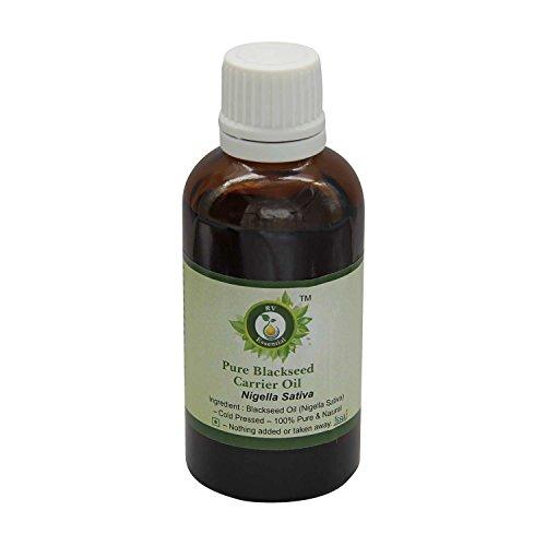 R V Essential Pur Blackseed porteuse Huile 5ml (0.169oz) - Nigella Sativa (100% Pur et naturelle pressée à froid) Pure Blackseed Carrier Oil