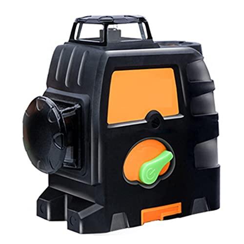 SXTYRL Nivel láser, Verde Línea, Línea De Rayo láser, Horizontales Verticales, Líneas Láser, Usado para Interiores, Recargable, Batería (Color : Black)