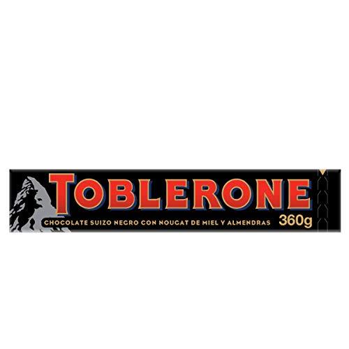 Toblerone Chocolate Negro Suizo con Miel y Turrón de Almendras - Barra grande de 360 g