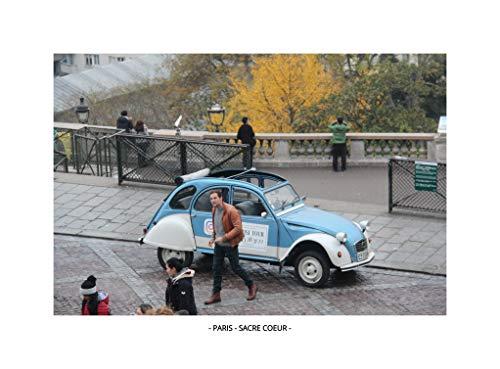 QUADRO PARIS - SACRE COEUR (MOLDURA BRANCA, IMAGEM COLORIDA)