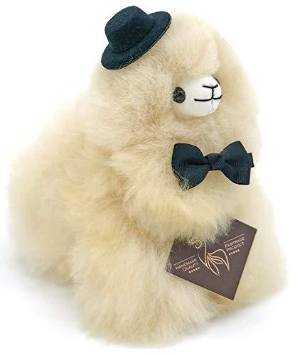 Inkari Mini-Alpaka Kuscheltier - aus echter Alpaka-Wolle, super süßes Geschenk, unglaublich flauschig