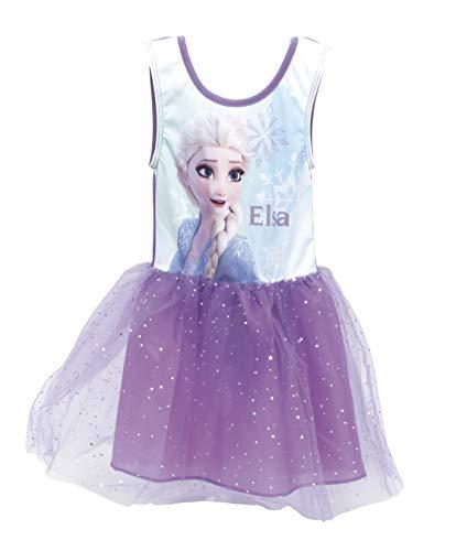 Disney, Frozen 2, Mädchen Kurzarm Kleid, Spaß 3D Ballett Tutu Tüll Rock, Kinder Geburtstagsfeier Kostüm Lässig ärmelloses Sommer Prinzessin Kleid mit ELSA, 8 Jahre