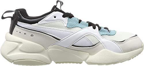 PUMA Nova 2 Wns, Zapatillas deportivas para Mujer, Blanco White-Pastel Parchment, 38 EU